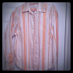 Peach striped blouse